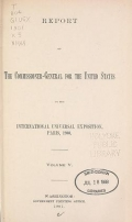 Cover of Report of the commissioner-general for the United States to the International universal exposition, Paris, 1900- February 28, 1901