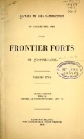 Cover of Report of the Commission to locate the site of the frontier forts of Pennsylvania