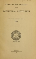 Cover of Report of the Secretary of the Smithsonian Institution