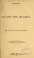 Cover of Report on interoceanic canals and railroads between the Atlantic and Pacific Oceans