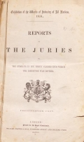 Cover of Reports by the juries on the subjects in the thirty classes into which the exhibition was divided