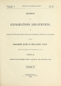 Cover of Reports of explorations and surveys, to ascertain the most practicable and economical route for a railroad from the Mississippi River to the Pacific O