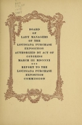 Cover of Report to the Louisiana Purchase Exposition Commission
