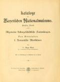 Cover of Romanische Alterthümer des bayerischen Nationalmuseums