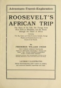 "Cover of ""Roosevelt's African trip"""