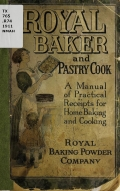 Cover of Royal baker and pastry cook