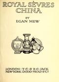 "Cover of ""Royal Sèvres china"""