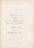 Cover of R. W. Bunsen's Vortrage über anorganische Experimentalchemie