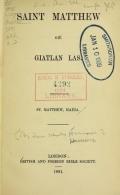 Cover of Saint Matthew giē giatlan las. =