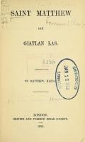 Cover of Saint Matthew giē giatlan las