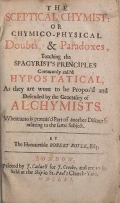 """Cover of """"The sceptical chymist or, Chymico-physical doubts & paradoxes"""""""