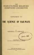 "Cover of ""The science of railways"""