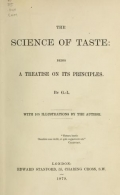 Cover of The science of taste