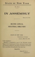 Cover of Second annual industrial directory of New York State 1913