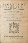 Cover of Les secrets du S. Alexis Piemontois