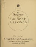 Cover of A Selection of Chinese carvings