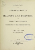 Cover of Selection of the practical points of malting and brewing