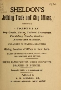 Cover of Sheldon's jobbing trade and city offices