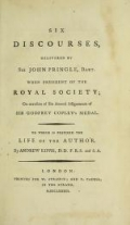 Cover of Six discourses