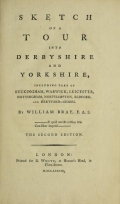 Cover of Sketch of a tour into Derbyshire and Yorkshire
