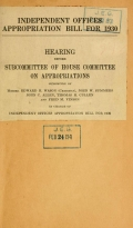"""Cover of """"[Smithsonian Institution appropriations hearings]"""""""