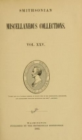 Cover of Smithsonian miscellaneous collections