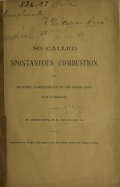 Cover of So called spontaneous combustion