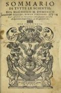 Cover of Sommario di tutte le scientie