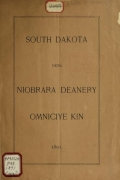 Cover of South Dakota okna Niobrara deanery omniciye kin