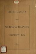 Cover of South Dakota okna Niobrara deanery omniciye kin