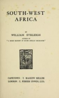 """Cover of """"South-West Africa"""""""
