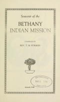 Cover of Souvenir of the Bethany Indian Mission