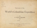 Cover of Souvenir of the World's Columbian Exposition
