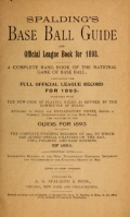 """Cover of """"Spalding's base ball guide, and official league book for"""""""