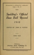 """Cover of """"Spalding's official base ball record"""""""