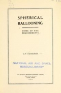 """Cover of """"Spherical ballooning, some of the requirements,"""""""