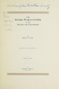Cover of The stamp publications of the State of Colorado