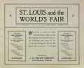 Cover of St. Louis and the World's Fair