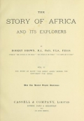 Cover of The story of Africa and its explorers v. 2