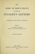 """Cover of """"The story of Emin's rescue as told in Stanley's letters"""""""