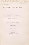 Cover of Studies of Paris