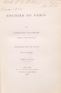 Cover of Studies of Paris