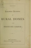 Cover of Suburban stations and rural homes on the Pennsylvania Railroad