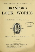 Cover of Supplementary catalogue of the Branford Lock Works
