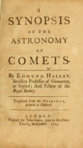 """Cover of """"A synopsis of the astronomy of comets /"""""""