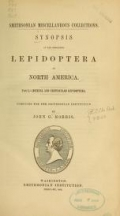 Cover of Synopsis of the described Lepidoptera of North America