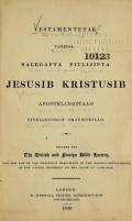 Cover of Testamentetak tamedsa nalegapta piulijipta Jesusib Kristusib apostelingitalo pinniarningit okausingillo