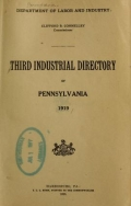 Cover of Third industrial directory of Pennsylvania, 1919