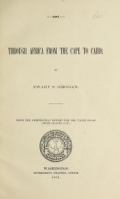 "Cover of ""Through Africa from the Cape to Cairo"""