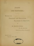 Cover of Toasts and responses